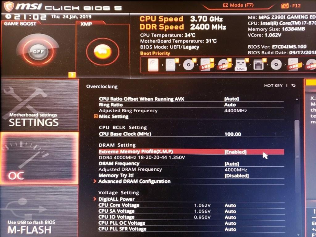 TeamGroup T-Force XCalibur RGB DDR4-4000 16GB Memory Kit