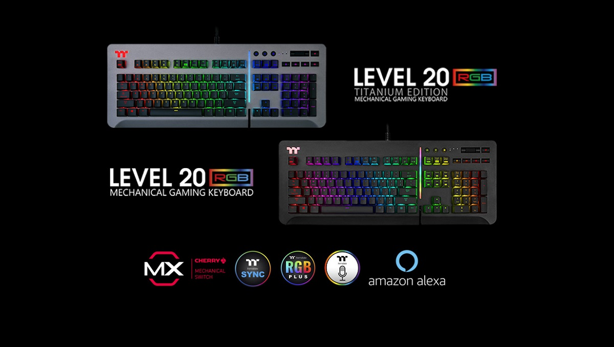 Thermaltake Gaming Unleashes New Level 20 RGB Gaming Keyboard_2