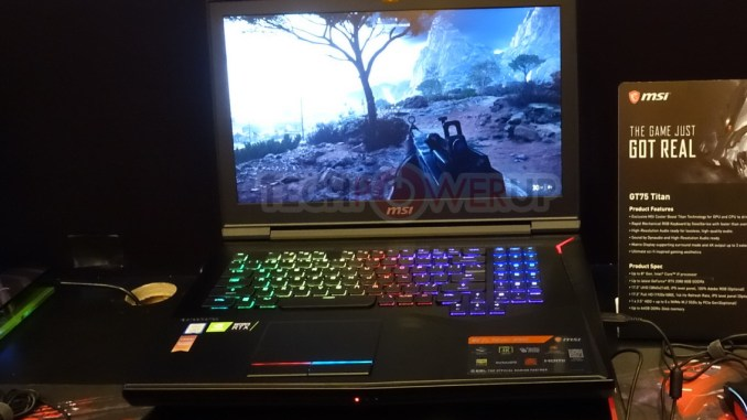 MSI Shows Off GS75 Stealth and GE75 Raider Notebooks at CES