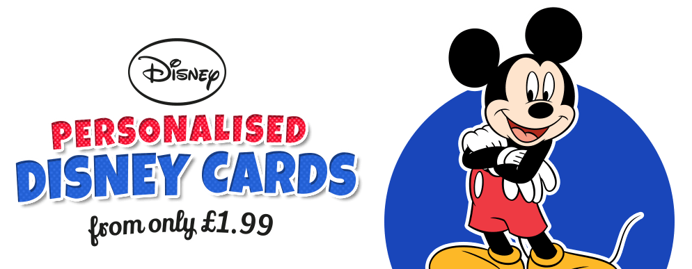 Official Disney Cards Personalised From 199