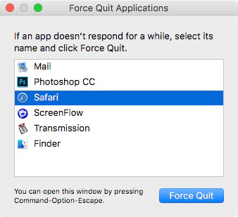 Force quit installer on mac