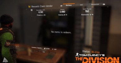 Tom Clancy's The Division Rewards Vendor