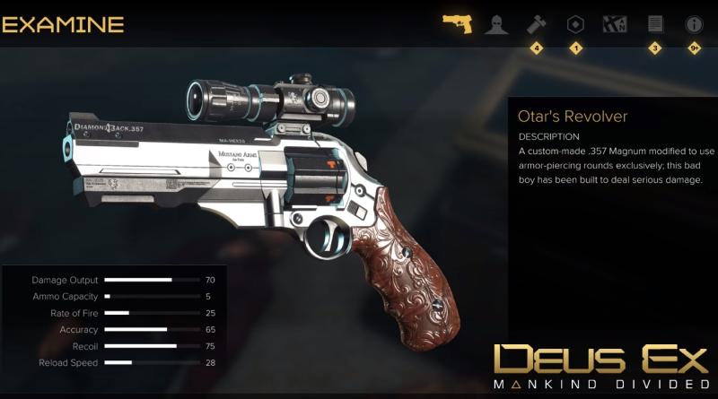 Deus Ex Mankind Divided How to Get Otar's Revolver