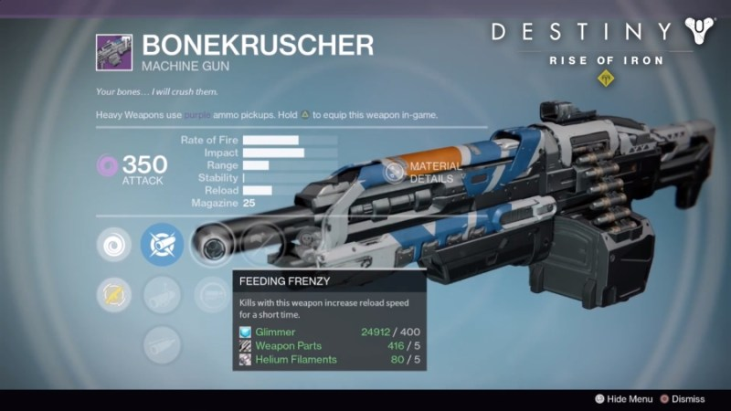 Best Vendor Weapons in Destiny Rise of Iron - BONEKRUSCHER