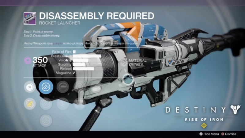 Best Vendor Weapons in Destiny Rise of Iron - Disassembly Required