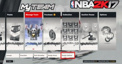 How to Design Jerseys in NBA 2K17