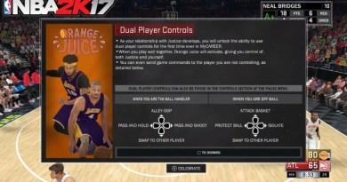 NBA 2K17 Orange Juice Dual Player Controls