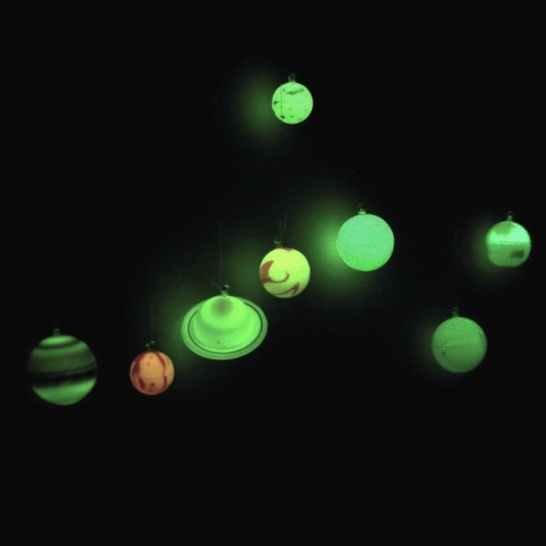 Glow In The Dark 3D Planets in a Tube
