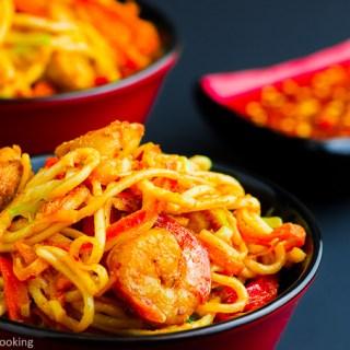 Schezwan Noodles Recipe funloveandcooking.com