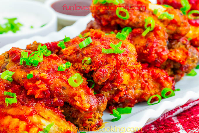 Buffalo Chicken Wings Recipe funloveandcooking.com