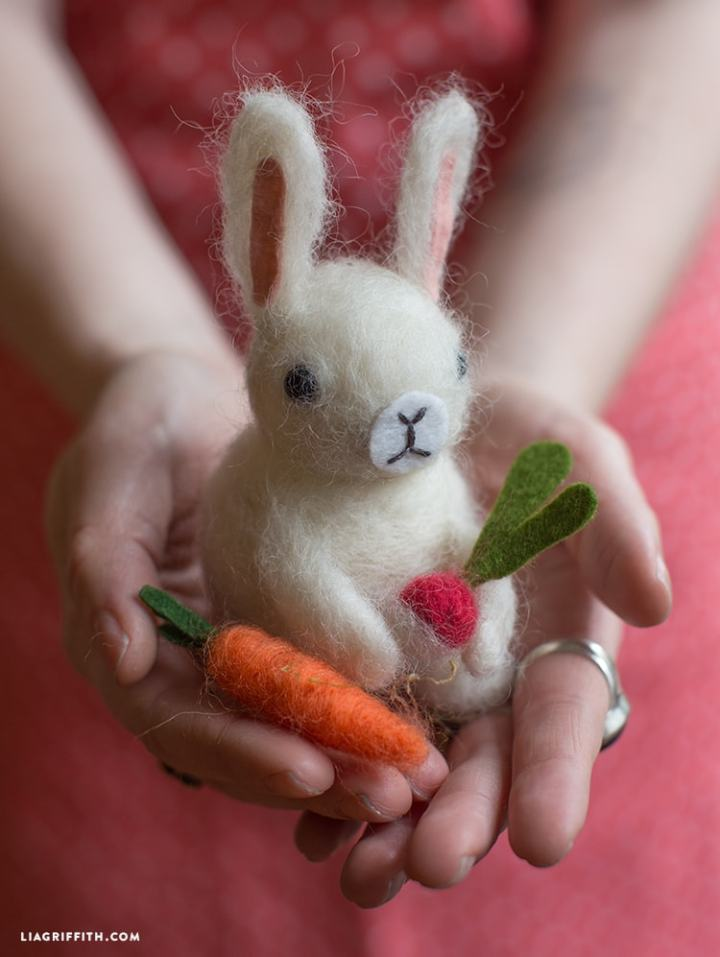 felted bunny tutorial