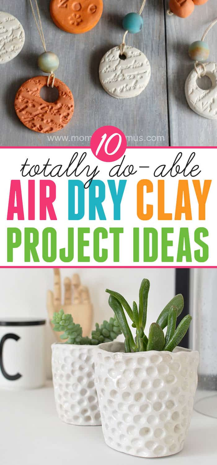 Things to make with air dry clay: Ten easy and beautiful projects using air dry clay.