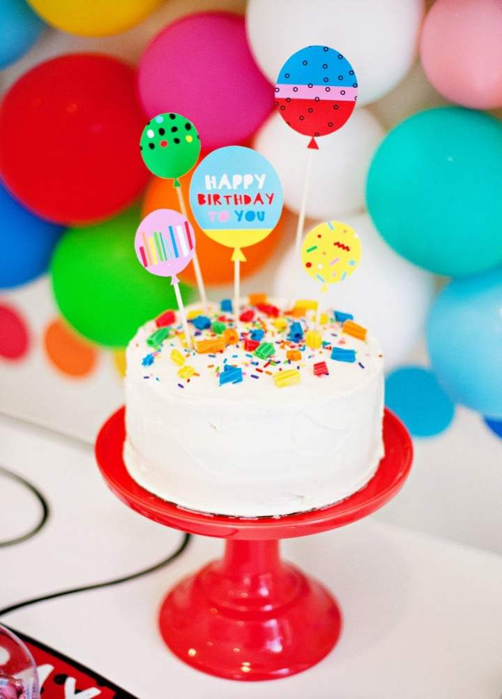 Rainbow Party Ideas, free printables for rainbow party