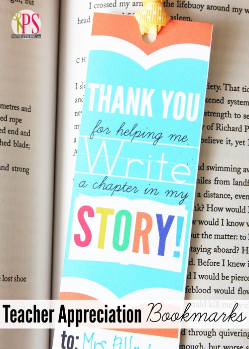 printable bookmarks for teacher appreciation. Gift idea for Teacher Appreciation Week. This site has some great teacher gift ideas.