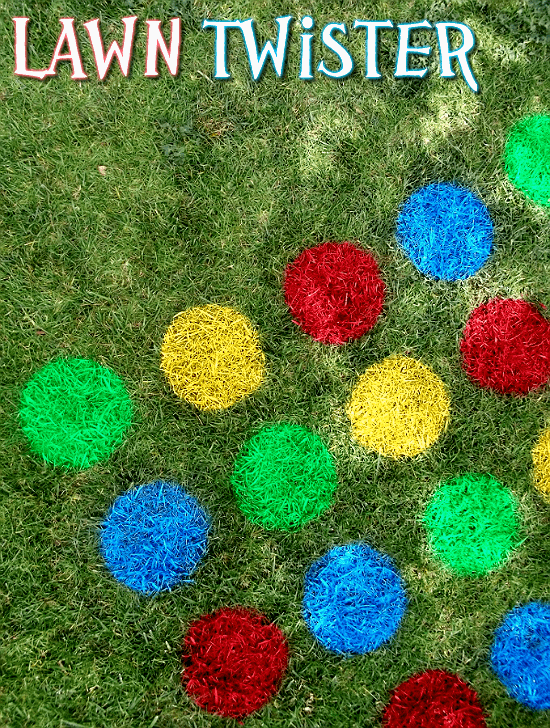 Play backyard Twister with DIY twister tutorial, plus really great ideas for fun DIY backyard party games to try.