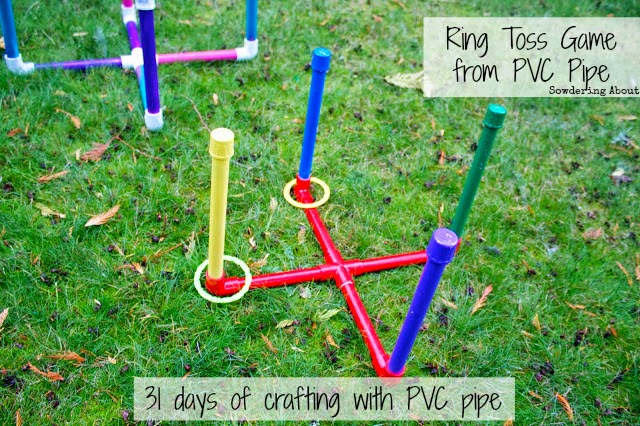 DIY Backyard PVC Ring Toss Party Game