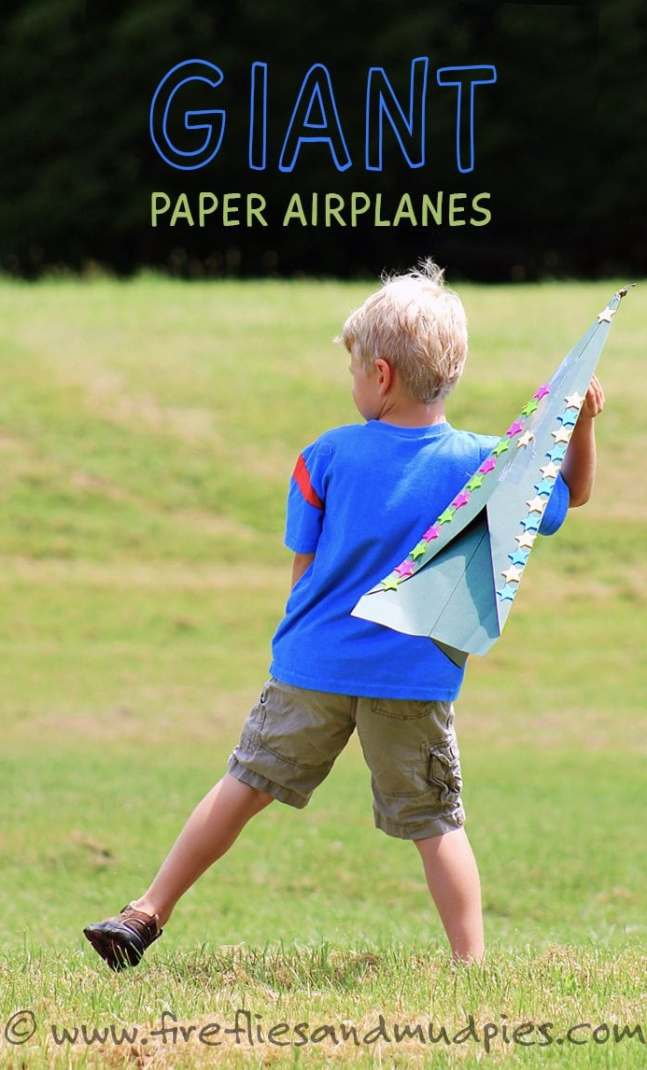 Have guests make their own giant paper airplanes for backyard party.