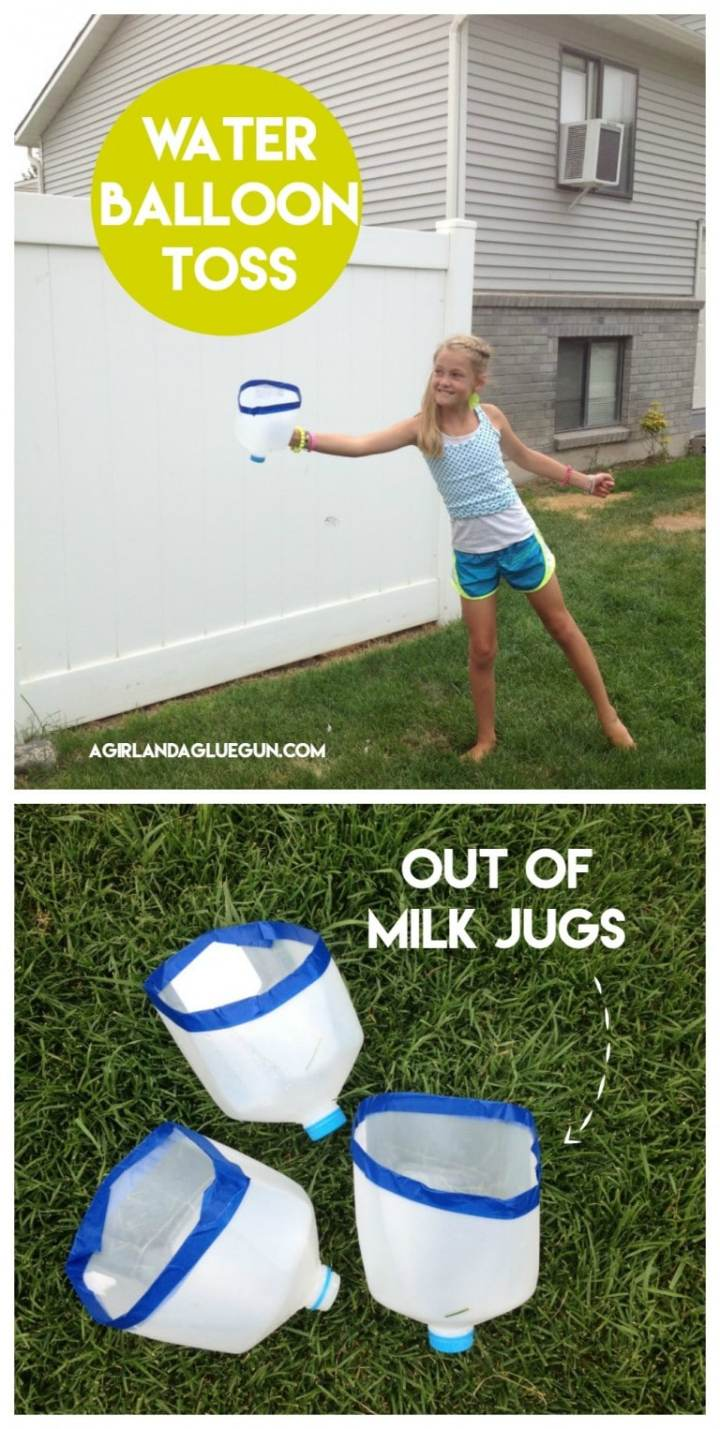 water balloon toss backyard party game