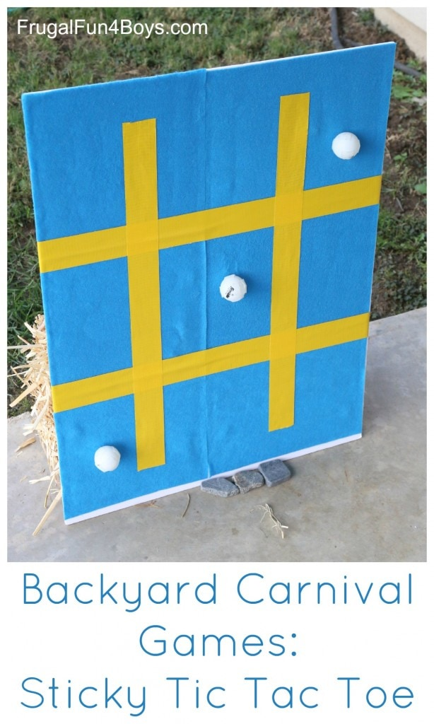 DIY giant tic-tac-toe game for backyard parties