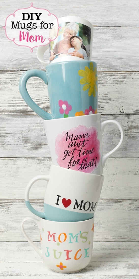 Wow, so many ways to do a DIY mug for Mother's Day. Lots of projects and tutorials.