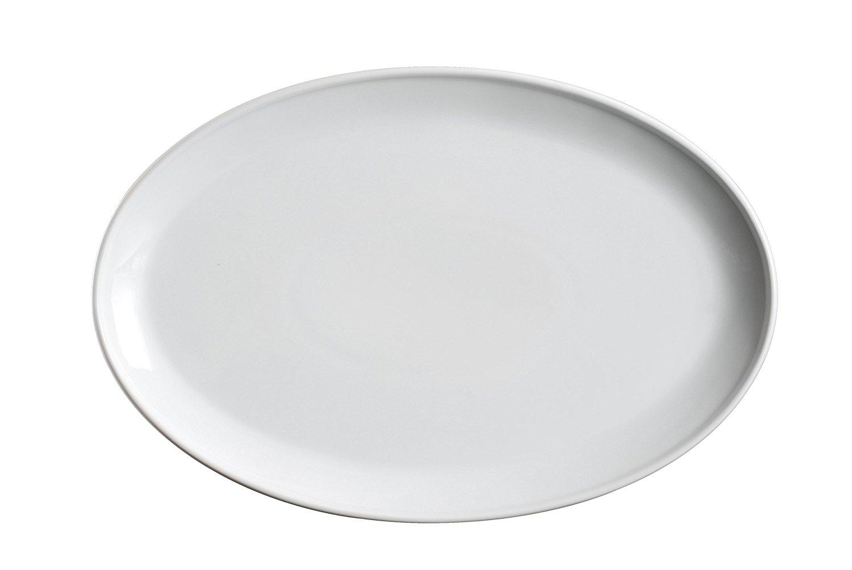 plain white serving platter for DIY fall handprint crafts