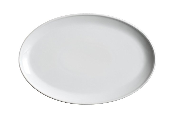 plain white serving platter for DIY fall handprint crafts