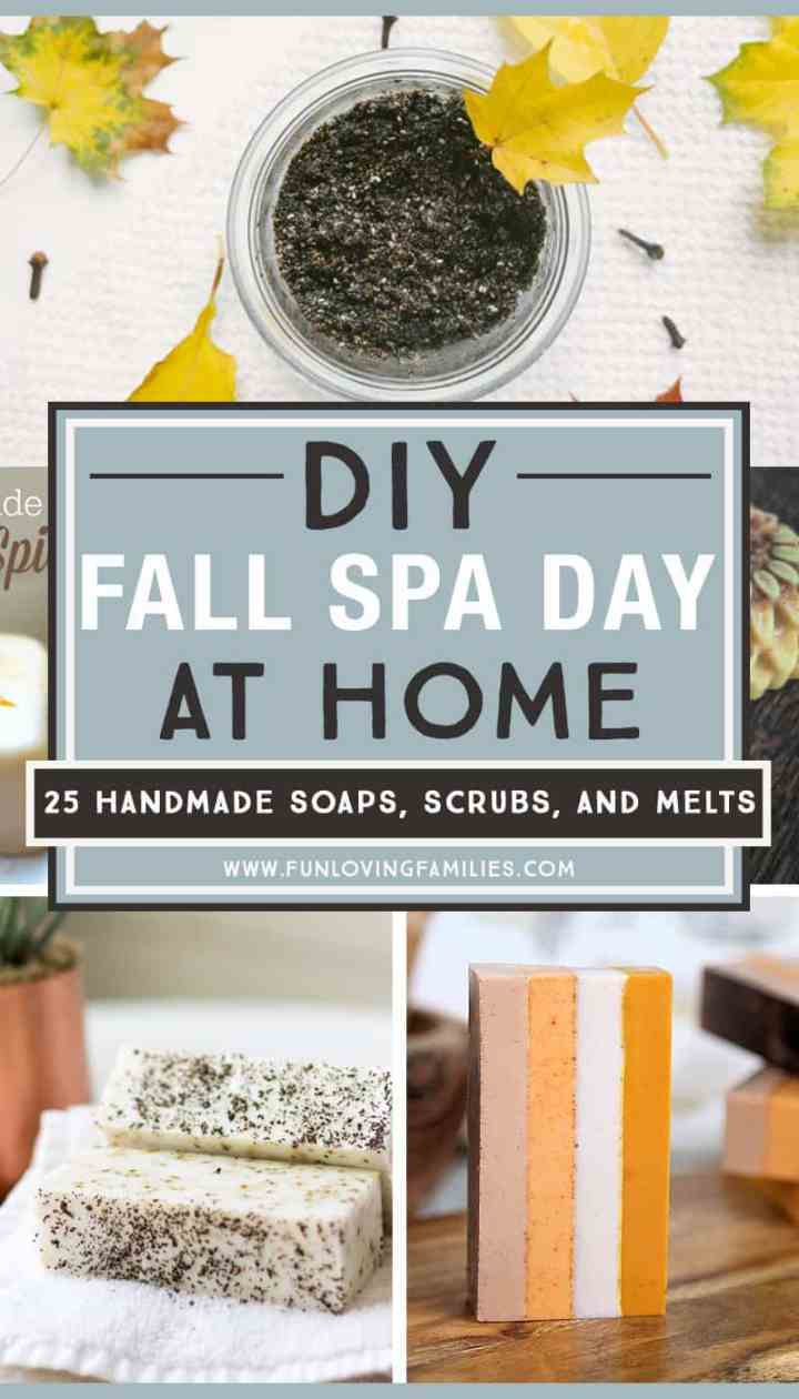 DIY Fall Spa treatments you can make at home. Take some time for self care this season, and find a new way to care for your skin, face, body, and spirit. #selfcare #spaday #selfcareformoms #diy