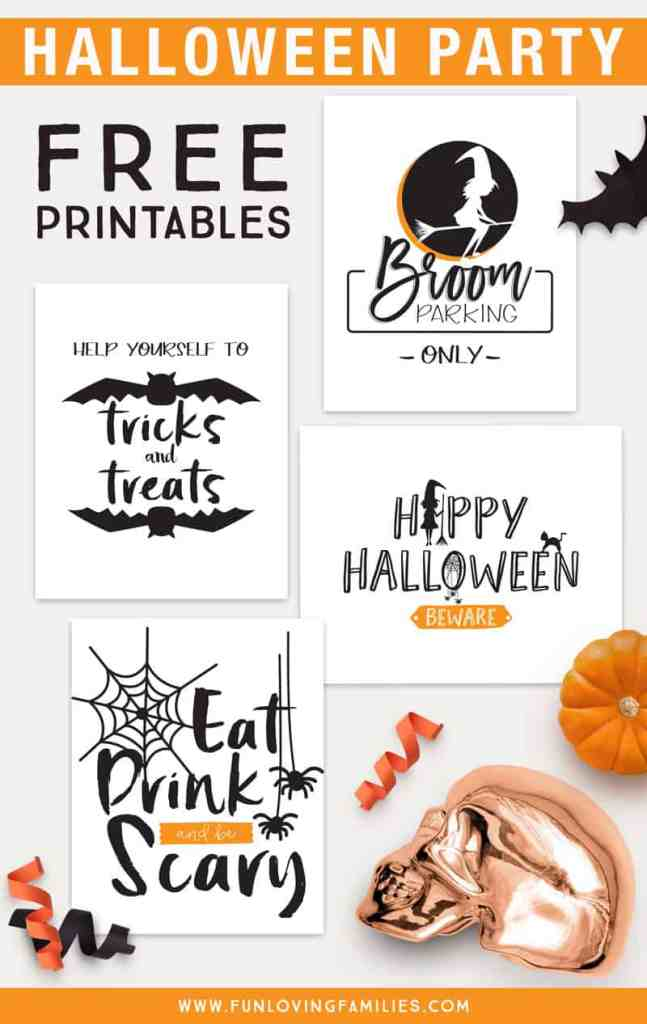 Free printable Halloween party decor signs