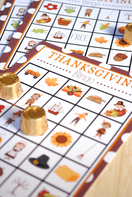 Keep this Thanksgiving bingo game around for the kids to play at the kids table.