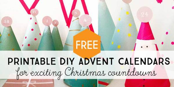 Quick and easy DIY printable advent calendar ideas for the best Christmas countdowns with your kids.