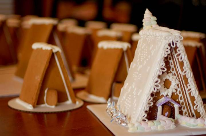 A-frame gingerbread house template. Use this template to make your own homemade gingerbread house.