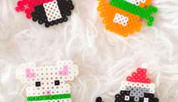 Chameleon Melty Bead Pattern (free) - Fun Loving Families
