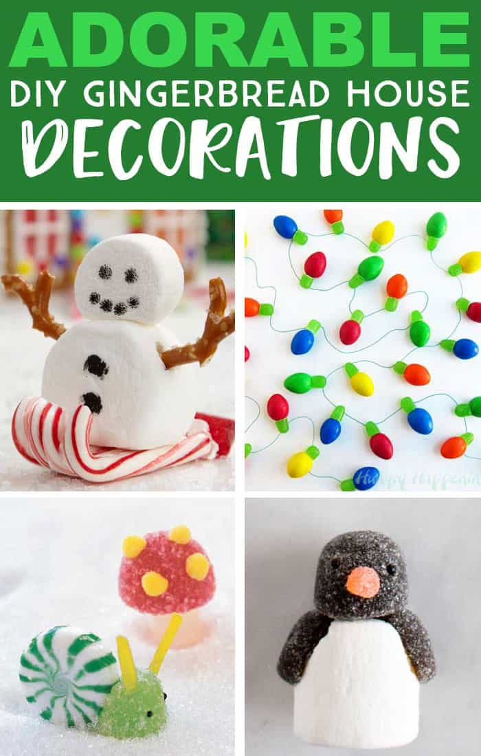 Create an adorable candy scene to go with your gingerbread house. Lots of great gingerbread house ideas here. #CandyCrafts #GingerbreadHouse #funwithfood #funfoodideas #gingerbreadhouseideas