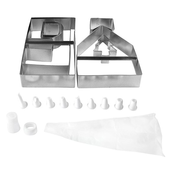 Gingerbread house shaped cookie cutters for making perfect gingerbread houses every time.