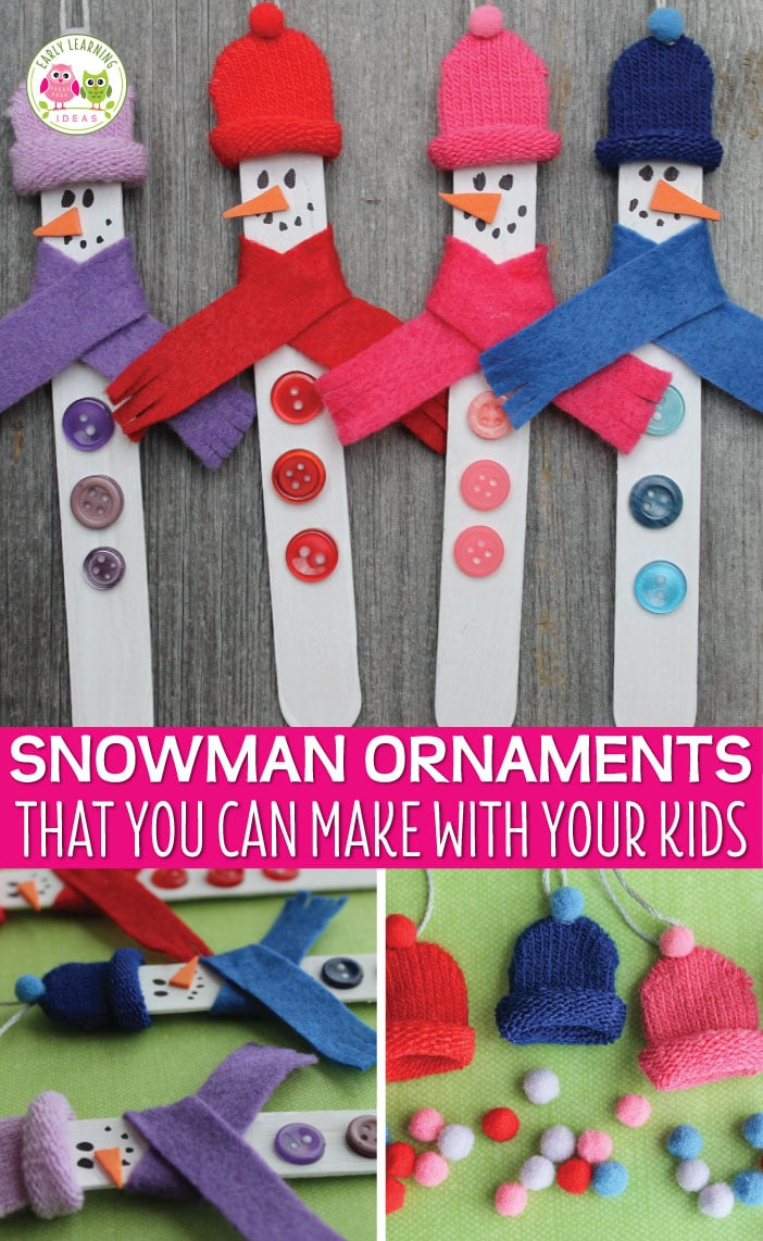 Check out these super-fun popsicle stick Christmas ornaments. Lots of ideas for an ornament party and crafting with the kids!