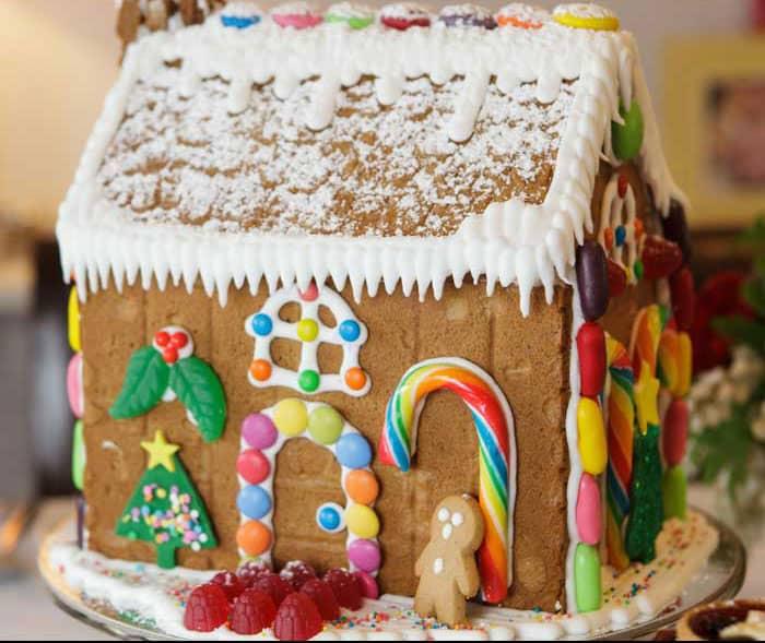 Gingerbread house design by vanillapod.com.au