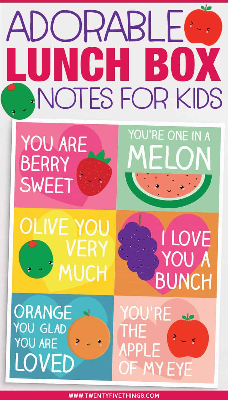 Printable lunch box love notes for kids. Send your kids to school with these sweet, and totally adorable, love notes. Click through for the free printable. Great for back to school! #lunchboxnotes #backtoschool #cute #freeprintable #kidslunchideas
