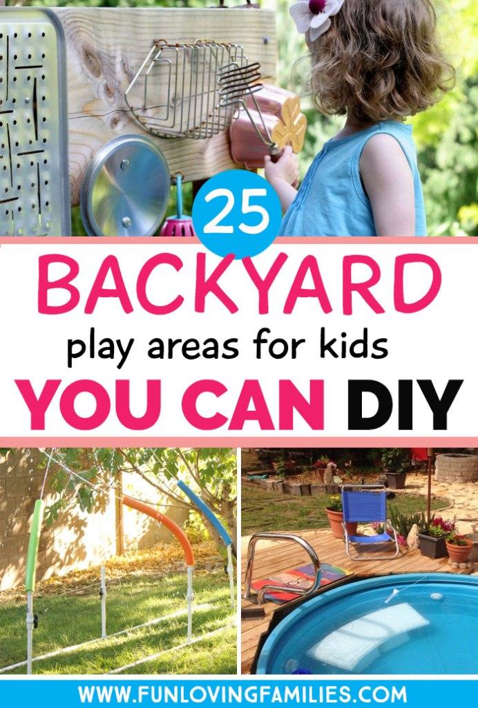 diy backyard play areas for kids