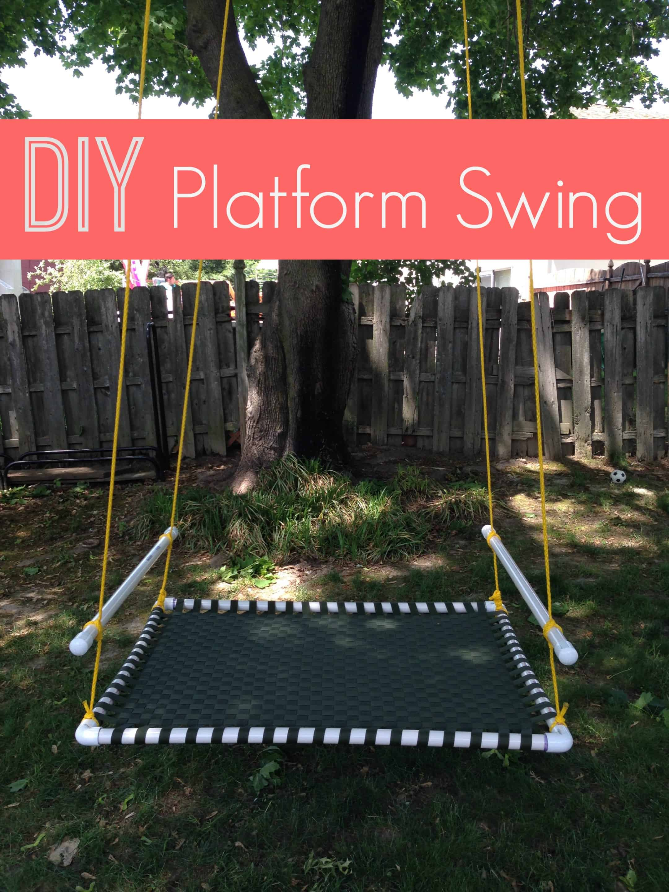 I love this DIY platform swing (via The Naughty Mommy). My kids would have a blast. So many great ideas for the backyard to keep the kids playing outside!