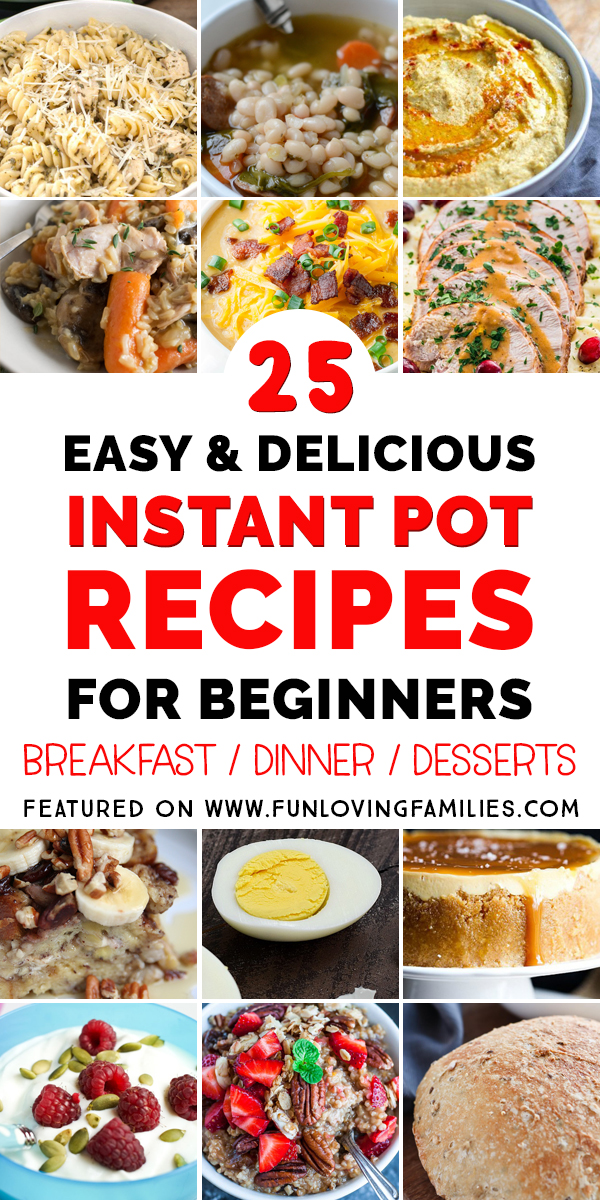 roundup of easy Instant Pot recipes for beginners