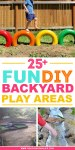 DIY backyard play areas to make for kids