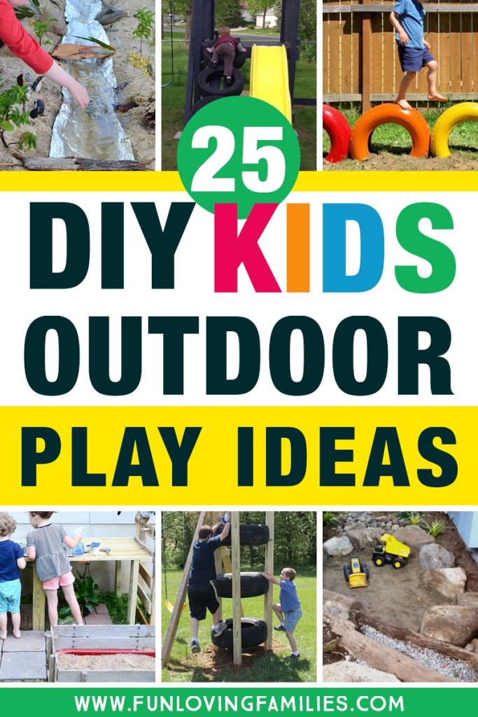 diy kids outdoor play ideas