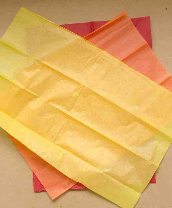 tissue paper for Olympic torch craft