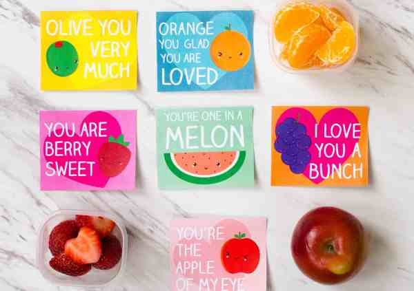 Super-cute free printable Valentine's Lunch Box Notes for Kids. Download and print these in time to slip them in your kid's lunchbox. #ValentinesPrintables #FreePrintable