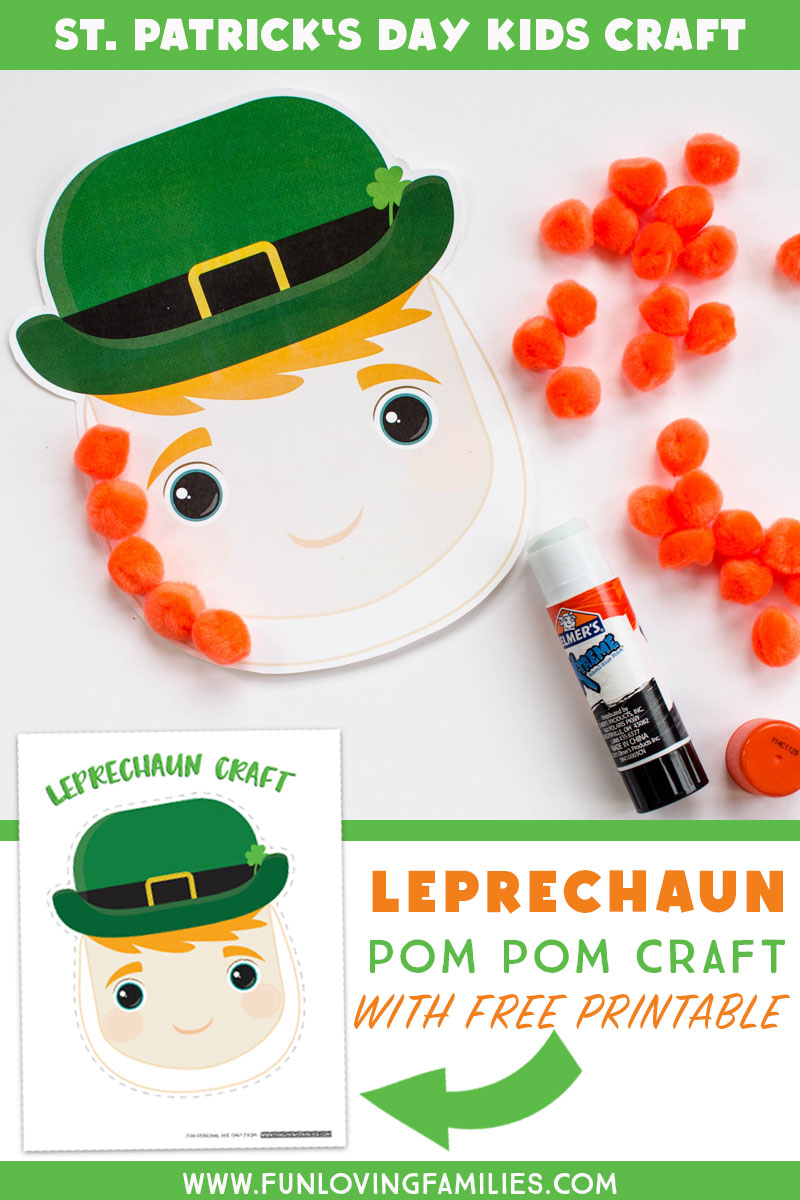 Here's an easy St. Patrick's Day kids craft you can make with our free printable. See all four ways to make this leprechaun craft for kids. #stpatricksday #kidscraft