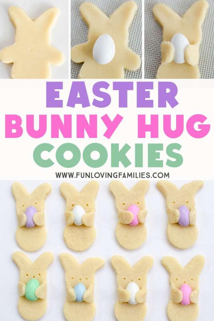 easter bunny hug cookies