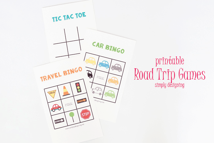 printable road trip game set (from Simply Designing)