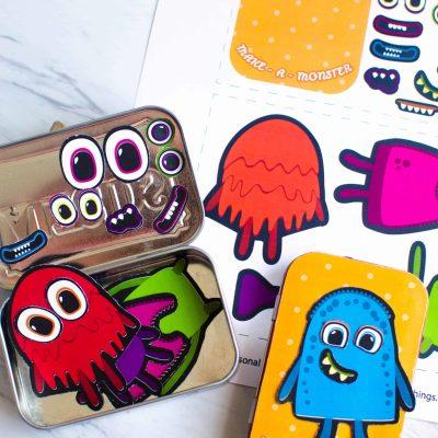 Make A Monster: DIY Magnetic Travel Game for Kids