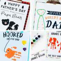 4 Father's Day Handprint Printable Kids Activity