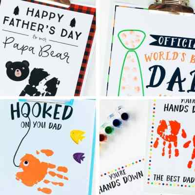 4 Father's Day Handprint Ideas with Free Printables